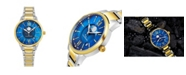 Stuhrling Alexander Watch AD204B-03, Ladies Quartz Moonphase Date Watch with Yellow Gold Tone Stainless Steel Case on Yellow Gold Tone Stainless Steel Bracelet