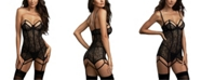 Dreamgirl Lace Garter Slip With Architectural Detailing