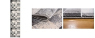 """Bridgeport Home Maasai Mss1 Light Gray 2' 7"""" x 10' Runner Area Rug"""