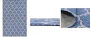 Bridgeport Home Pashio Pas5 Navy Blue 6' x 9' Area Rug