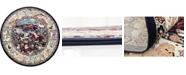 Bridgeport Home Zara Zar3 Navy Blue 10' x 10' Round Area Rug