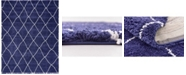 Bridgeport Home Fazil Shag Faz3 Navy Blue 9' x 12' Area Rug
