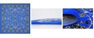 Bridgeport Home Arnav Arn1 Blue 8' x 8' Square Area Rug