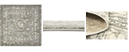 Bridgeport Home Aldrose Ald3 Gray 8' x 8' Square Area Rug