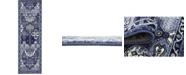 Bridgeport Home Aldrose Ald1 Blue 2' x 6' Runner Area Rug