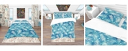 Design Art Designart 'Pattern With Feathers And Circles' Southwestern Duvet Cover Set - Twin