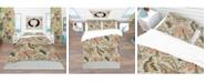Design Art Designart 'Vintage Indian Floral Pattern' Tropical Duvet Cover Set - King