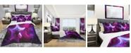 Design Art Designart 'Purple Haze Abstract' Modern and Contemporary Duvet Cover Set - King