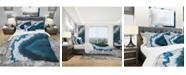 Design Art Designart 'Blue Brazilian Geode' Modern and Contemporary Duvet Cover Set - King
