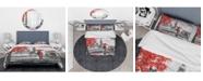 Design Art Designart 'Couples Walking In Paris' London Uk Duvet Cover Set - Twin