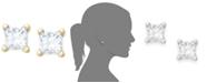 Macy's Princess-Cut Diamond Stud Earrings in 10k Yellow or White Gold (1/4 ct. t.w.)