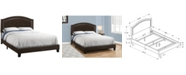 Monarch Specialties Queen Leather Look Bed