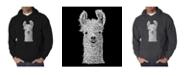 LA Pop Art Men's Word Art Hoodie - Llama