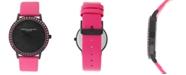 Christian Siriano New York Christian Siriano Women's Analog MOP Stainless Steel Pink Vegan Leather Watch 40mm