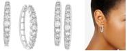Macy's Diamond Hoop Earrings (1/2 ct. t.w.) in 14k White Gold