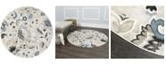 "Global Rug Designs CLOSEOUT! Global Rug Design York YOR02 Beige 7'10"" Round Area Rug"