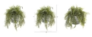 "Nearly Natural 10"" Tillandsia Moss Artificial Plant in Vintage Hanging Metal Pail"