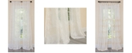 Manor Luxe Lillie Embroidered Sheer Rod Pocket Curtain Collection