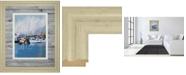 "Classy Art Along The Quay by Fitsimmons, A. Framed Print Wall Art - 34"" x 40"""