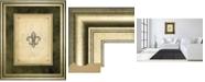 "Classy Art Fleur Di Lies II by Alexey Paviuts Double Matted Framed Print Wall Art - 34"" x 40"""