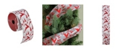"""Northlight Pack of 12 Silver and Red Flying Reindeer Wired Christmas Craft Ribbon Spools - 2.5"""" x 120 Yards Total"""