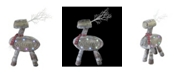 """Northlight 23.5"""" LED Lighted Faux Wood """"Welcome"""" Reindeer Christmas Decoration"""