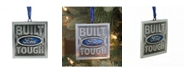 """Northlight 3"""" Officially Licensed Built Ford Tough Brushed Nickel Plated Christmas Tree Ornament"""
