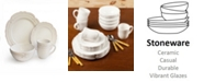 Jay Imports Victoria White 16Pc Dinnerware Set