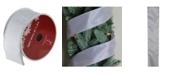 "Northlight Simply Gray Burlap Wired Christmas Craft Ribbon 2.5"" x 10 Yards"