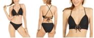 Hula Honey Juniors' Rib Push-Up Midkini Bikini Top & Hipster Bottoms, Created for Macy's