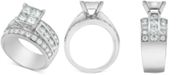 Macy's Diamond Princess Quad Cluster Engagement Ring (3 ct. t.w.) in 14k White Gold