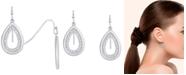 Macy's Diamond 5/8 ct. t.w. Teardrop Hanging Earrings in Sterling Silver