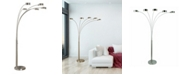 """Artiva USA Micah Plus Modern LED 88"""" 5-Arched Floor Lamp with Dimmer"""