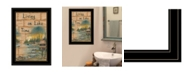 "Trendy Decor 4U Living On The Lake by Mary June, Ready to hang Framed Print, Black Frame, 15"" x 21"""