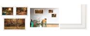 "Trendy Decor 4U Tranquil Spaces 3-Piece Vignette by Robin-Lee Vieira, White Frame, 32"" x 18"""