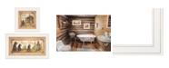 "Trendy Decor 4U Natures / Bath 2-Piece Vignette by Mary Ann June, White Frame, 13"" x 19"""