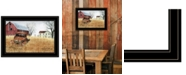"""Trendy Decor 4U Granddad's Old Truck by Billy Jacobs, Ready to hang Framed Print, Black Frame, 21"""" x 15"""""""