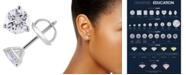Macy's Certified 1 ct. t.w. Diamond Stud Earrings in 14k White or Yellow Gold