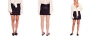 Free People Modern Femme Faux-Leather Mini Skirt