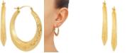 Macy's Greek Key Small Hoop Earrings in 10k Gold