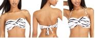 Bar III Zebra-Print Bandeau Bikini Top, Created for Macy's