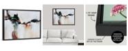 "GreatBigCanvas 40 in. x 30 in. ""Azure Jazz"" by  Sydney Edmunds Canvas Wall Art"