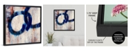 "GreatBigCanvas 'Lapis Rings I' Framed Canvas Wall Art, 24"" x 24"""