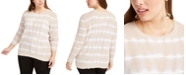 INC International Concepts INC Plus Size Cotton Tie-Dyed Sweater, Created for Macy's