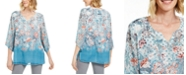 JM Collection Split-Neck Chiffon Tunic, Created for Macy's