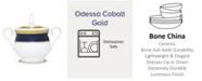 Noritake Odessa Cobalt Gold Sugar W/Cover, 11-1/2 Oz.