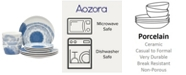 Noritake Aozora 12-PC Dinnerware  Set, Service for 4