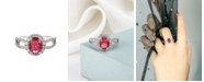 A&M Silver-Tone Ruby Accent Ring