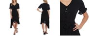 CeCe Cascading Belted Dress