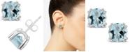 Macy's Aquamarine (2-1/2 ct. t.w.) Stud Earrings in Sterling Silver